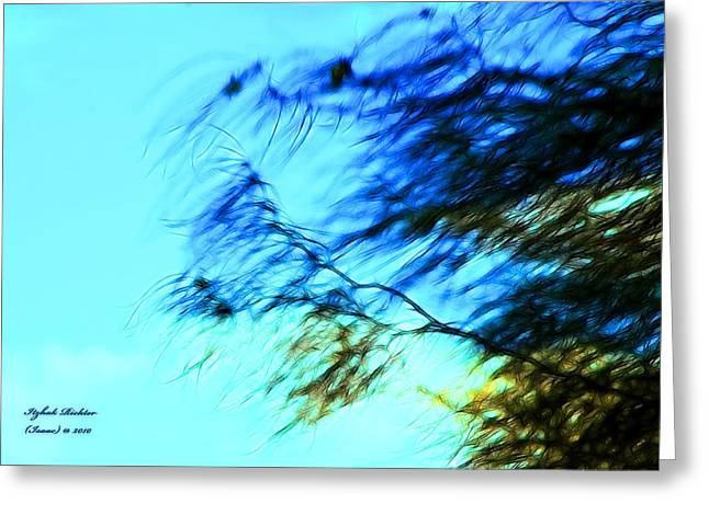 Under The Tree Greeting Card by Itzhak Richter