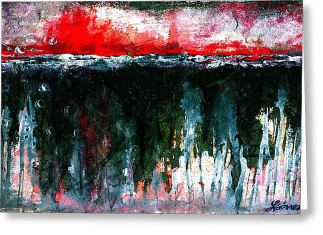 Underground - Art By Laura Gomez Greeting Card