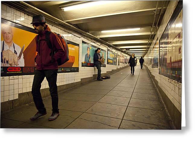 Underground Greeting Card by Art Ferrier