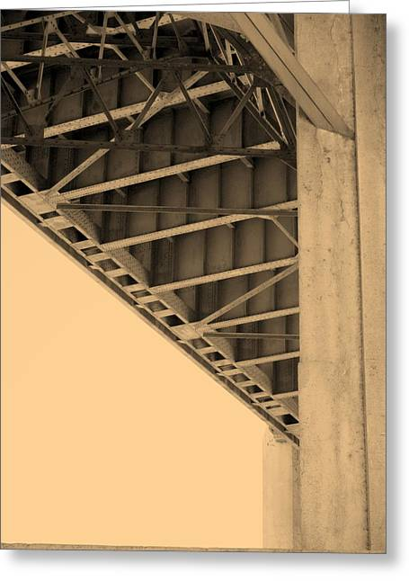 Underside Of 6th Street Bridge Greeting Card by Kevin  Break