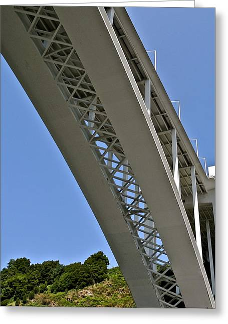 Greeting Card featuring the photograph Underside Of Beautiful Bridge by Kirsten Giving