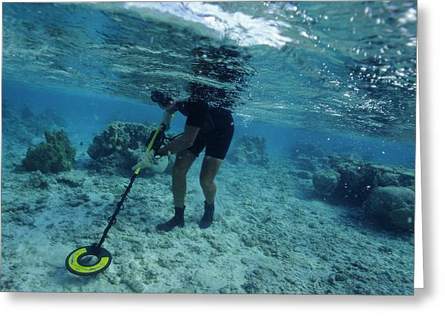 Underwater Metal Detecting Greeting Card by Alexis Rosenfeld