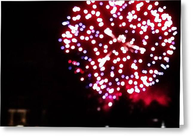 Unfocused Fireworks 1 Greeting Card