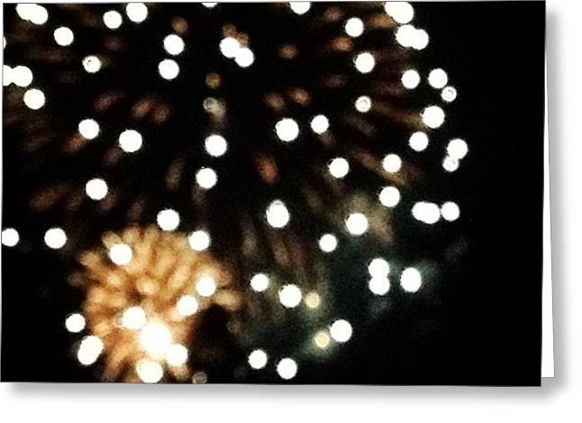 Unfocused Fireworks 2 Greeting Card