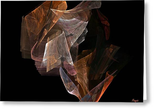 Greeting Card featuring the digital art Unfolding by John Pangia