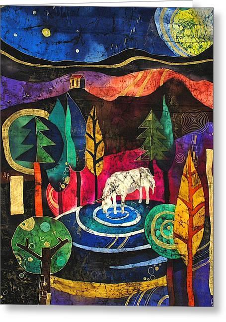 Unicorn Greeting Card by Sandra Kern
