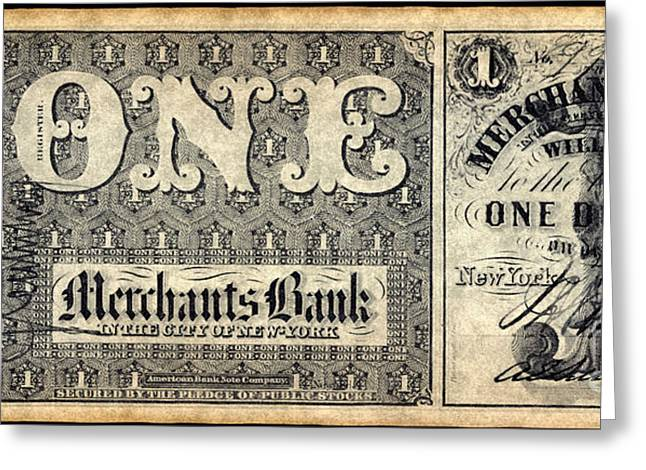 Union Banknote, 1862 Greeting Card by Granger