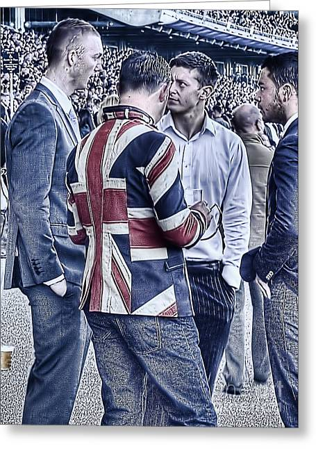 Greeting Card featuring the photograph Union Jacks Ablaze At Ascot by Jack Torcello