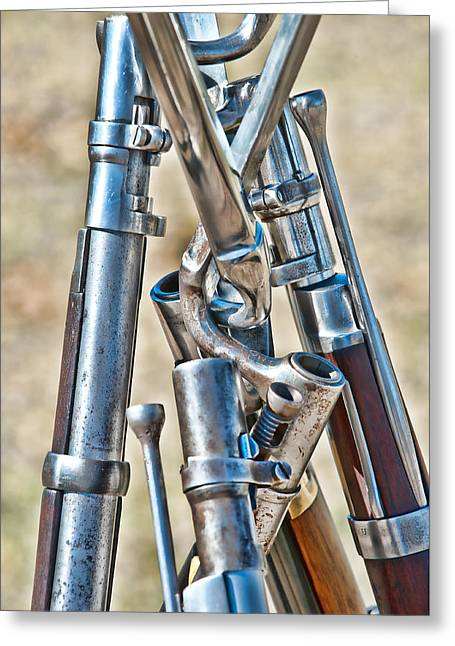 Union Muskets Greeting Card by George Buxbaum