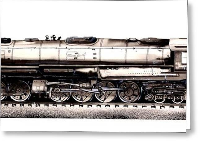 Union Pacific 4-8-8-4 Steam Engine Big Boy 4005 Greeting Card