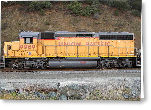 Union Pacific Locomotive . 7d10569 Greeting Card by Wingsdomain Art and Photography