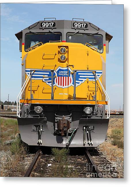 Union Pacific Locomotive Train - 5d18636 Greeting Card by Wingsdomain Art and Photography