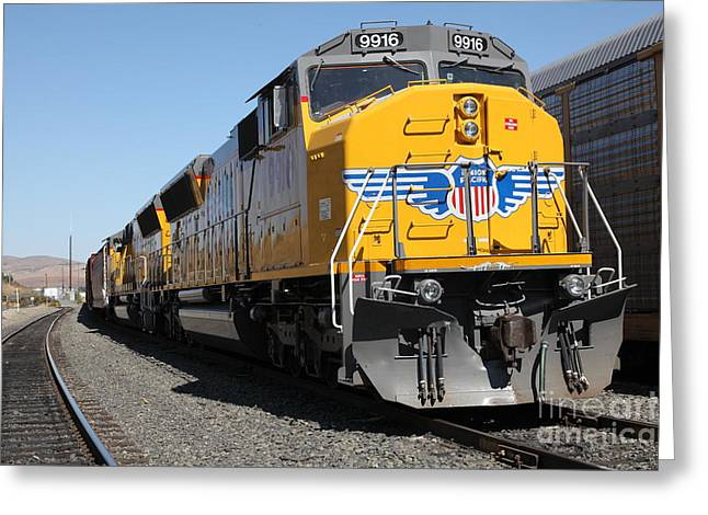 Union Pacific Locomotive Trains . 5d18824 Greeting Card by Wingsdomain Art and Photography