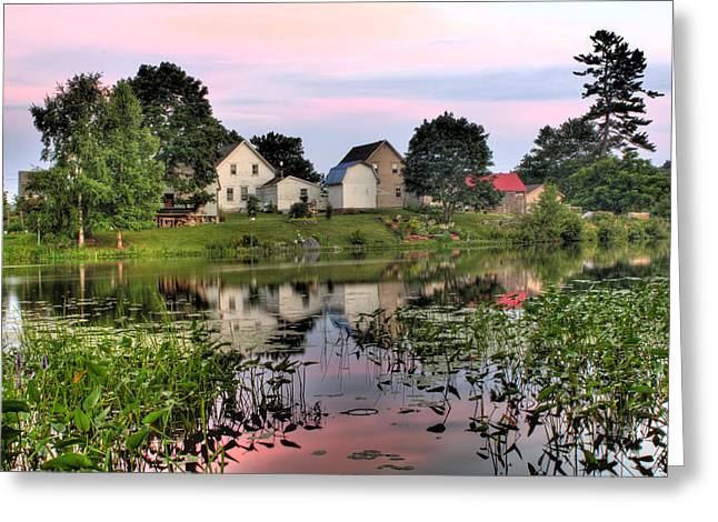 Union River Sunset  Greeting Card by Greg DeBeck