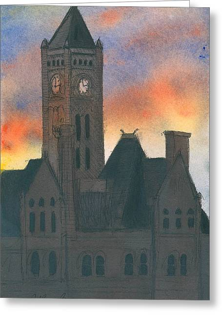 Union Station Greeting Card by Arthur Barnes