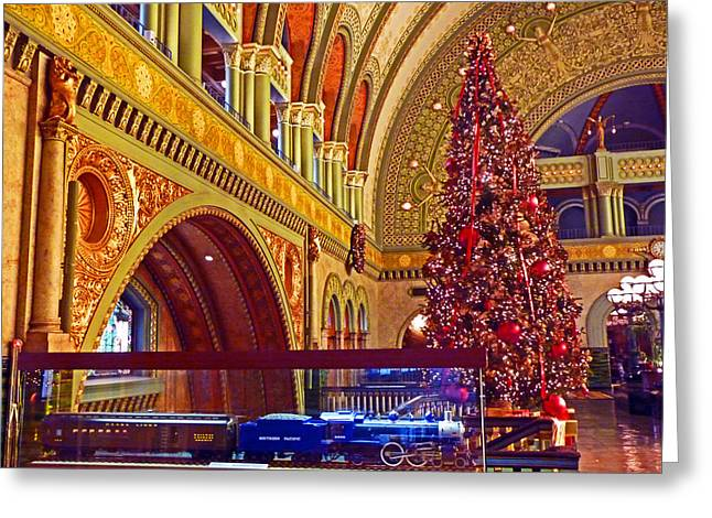 Greeting Card featuring the photograph Union Station Christmas by William Fields
