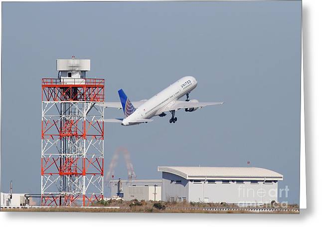 United Airlines Jet Airplane At San Francisco International Airport Sfo . 7d11846 Greeting Card