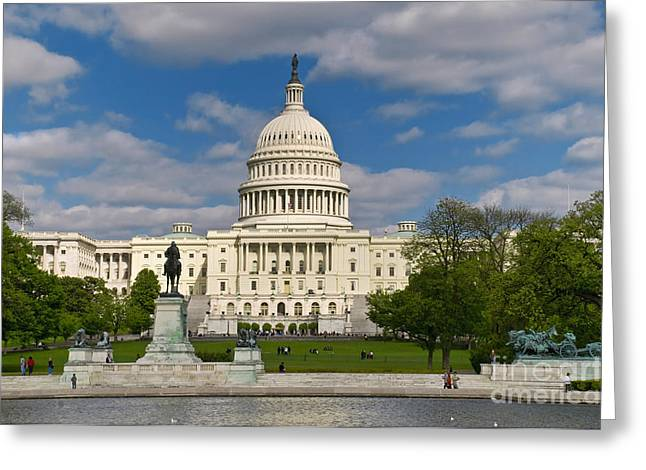 Greeting Card featuring the photograph United States Capitol by Jim Moore