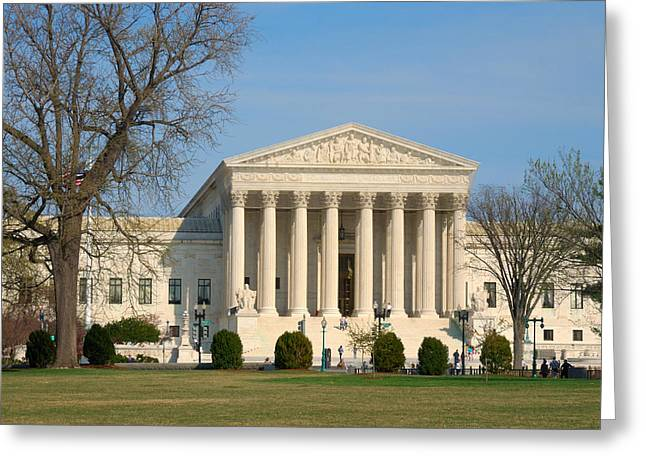 Greeting Card featuring the photograph United States Supreme Court by Steven Richman