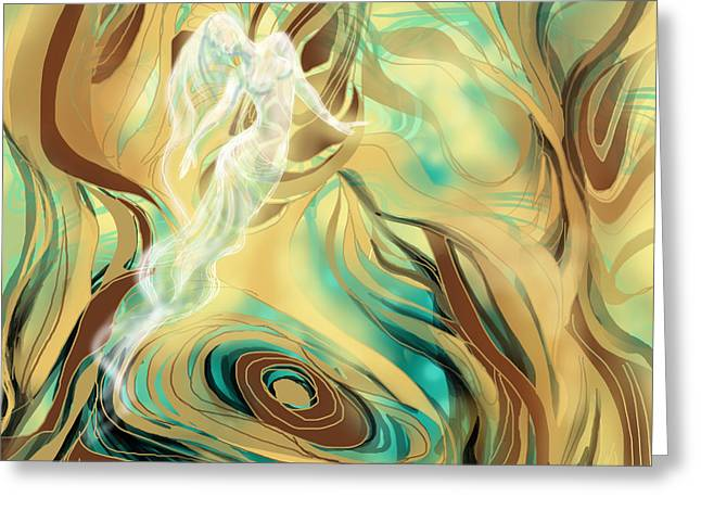 Universal Ghost Greeting Card by Shaina  Lee