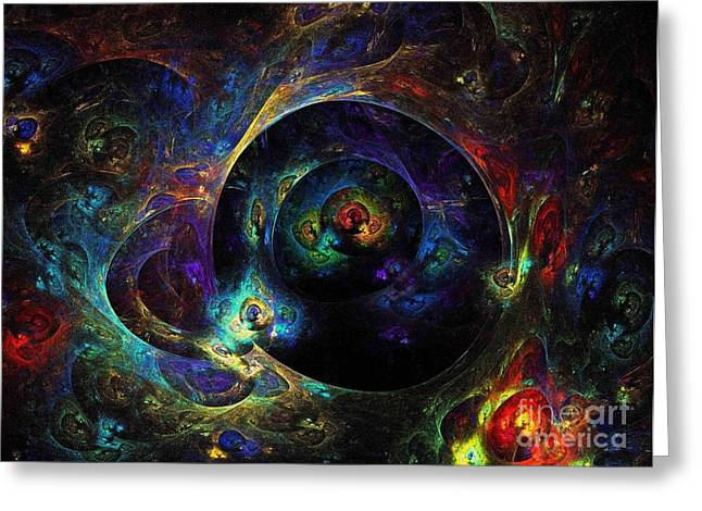 Universe Greeting Card by Klara Acel
