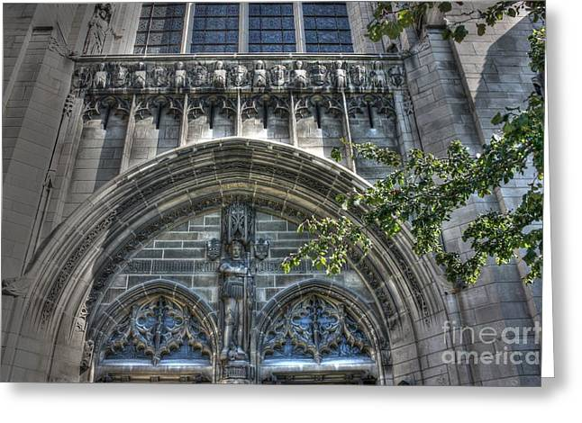 University Of Chicago Chapel Greeting Card by David Bearden