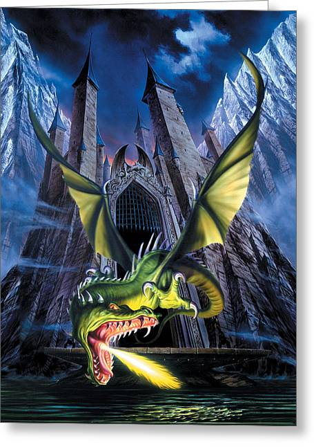 Unleashed Greeting Card by The Dragon Chronicles