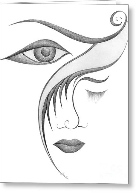 Unnamed Sketch 03 Greeting Card by Joanna Pregon