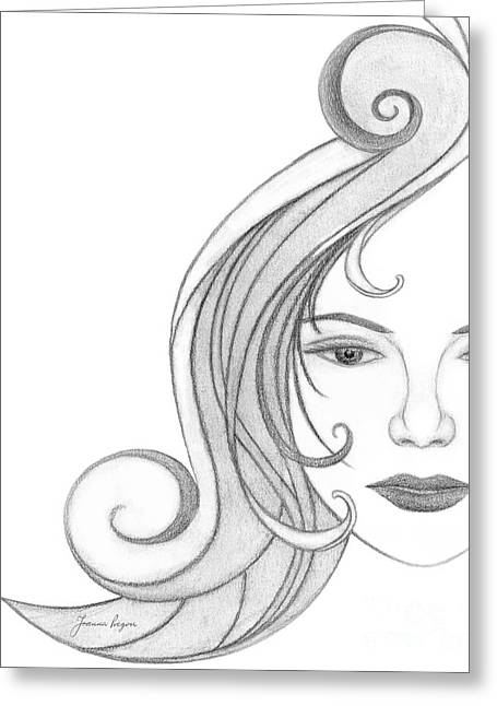 Unnamed Sketch 07 Greeting Card by Joanna Pregon