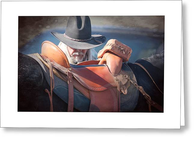 Untacking At The End Of The Day Greeting Card by Judy Deist