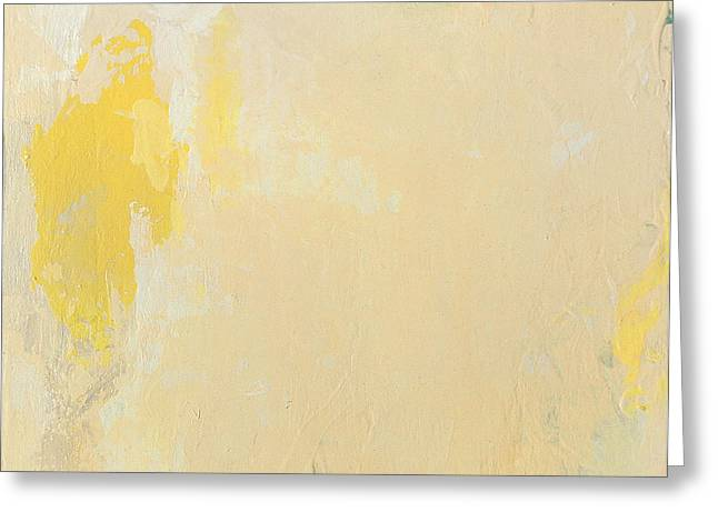 Untitled Abstract - Bisque With Yellow Greeting Card