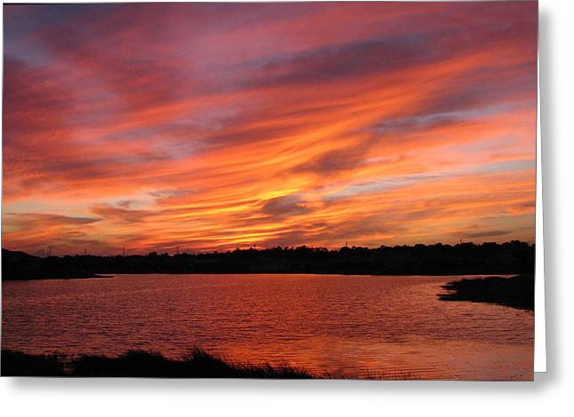 Greeting Card featuring the photograph Untitled Sunset-2 by Bill Lucas