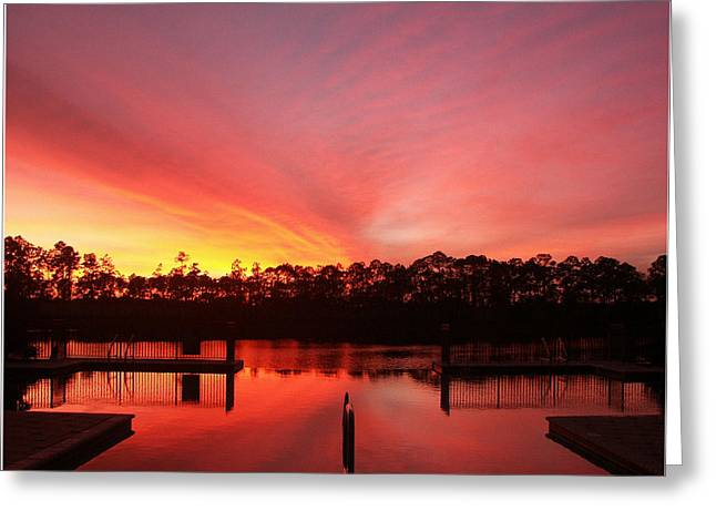 Greeting Card featuring the photograph Untitled Sunset-3 by Bill Lucas
