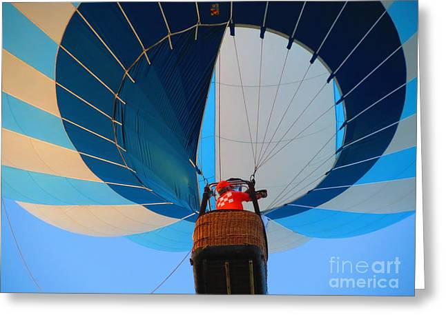 Greeting Card featuring the photograph Up Into The Blue. Oshkosh 2012. by Ausra Huntington nee Paulauskaite
