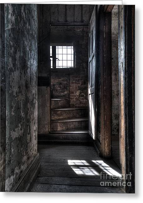 Up The Stairs Greeting Card by Steev Stamford