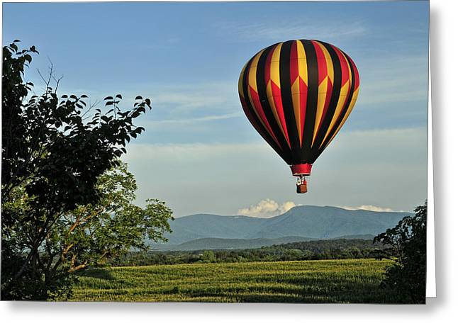 Up Up And Away Blueridge 2 Greeting Card