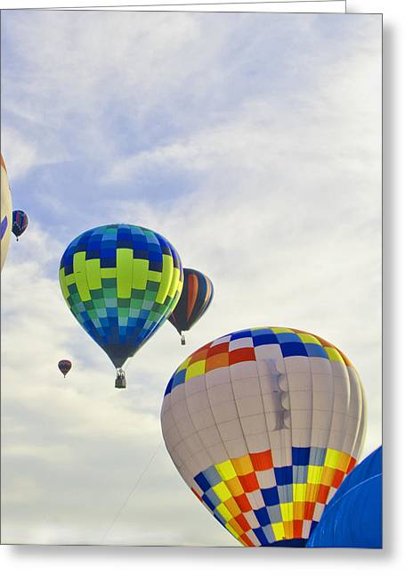 Up Up And Away Greeting Card by Carolyn Meuer-Pickering of Photopicks Photography and Art