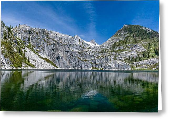 Upper Canyon Creek Lake Panorama Greeting Card