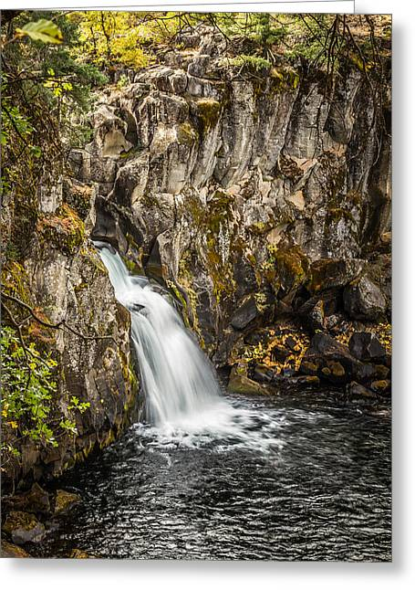 Greeting Card featuring the photograph Upper Falls Mccloud River by Randy Wood