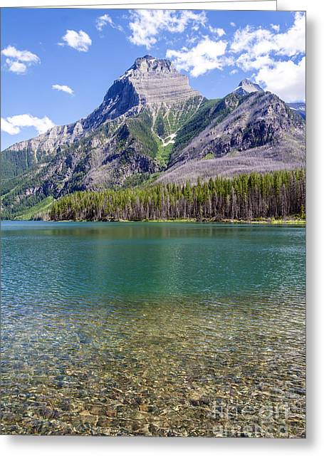 Upper Kintla Lake Colours 2 Greeting Card