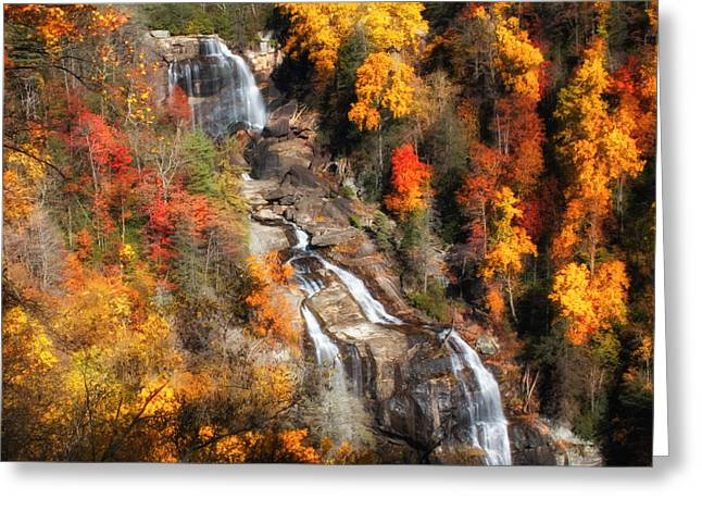 Upper Whitewater Falls Greeting Card by Lynne Jenkins