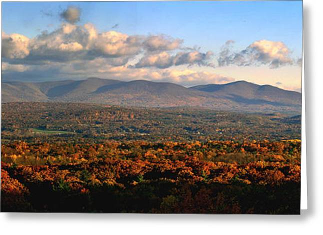Upstate Ny Panorama Greeting Card by Terry Cork