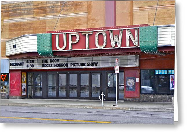 Uptown Theatre Greeting Card by David Ritsema
