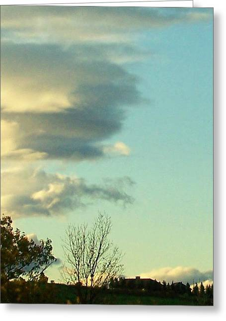 Upward Clouds Greeting Card by Barbara McGeachen