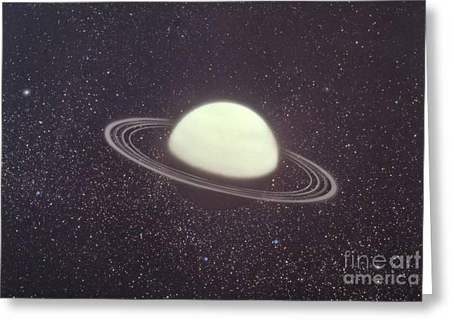 Uranus And Its Rings Greeting Card