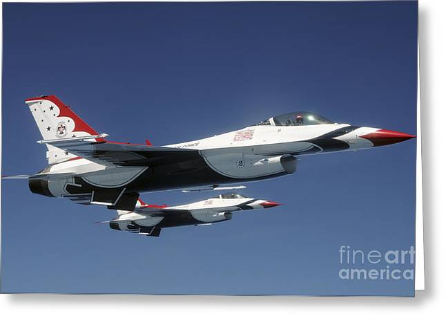 U.s. Air Force F-16 Thunderbirds Greeting Card by Stocktrek Images