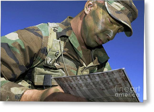 U.s. Air Force Lieutenant Reviews Greeting Card by Stocktrek Images