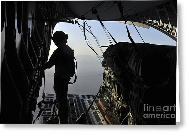U.s. Air Force Loadmaster Preparing Greeting Card by Stocktrek Images