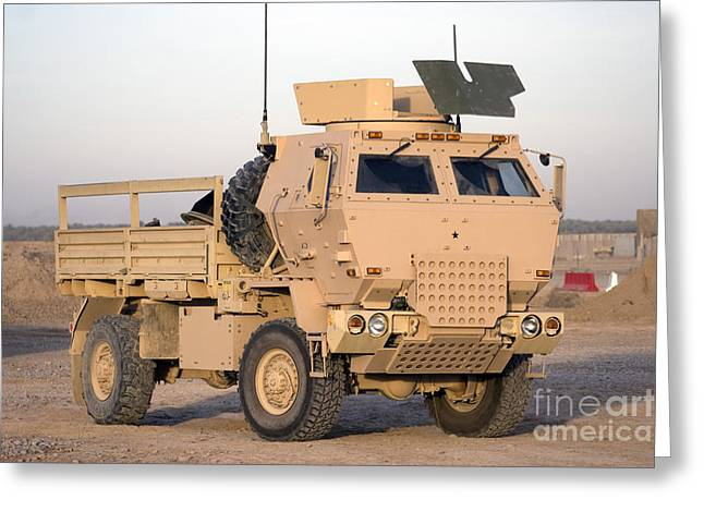 Us Army Armored Truck Greeting Card by Terry Moore