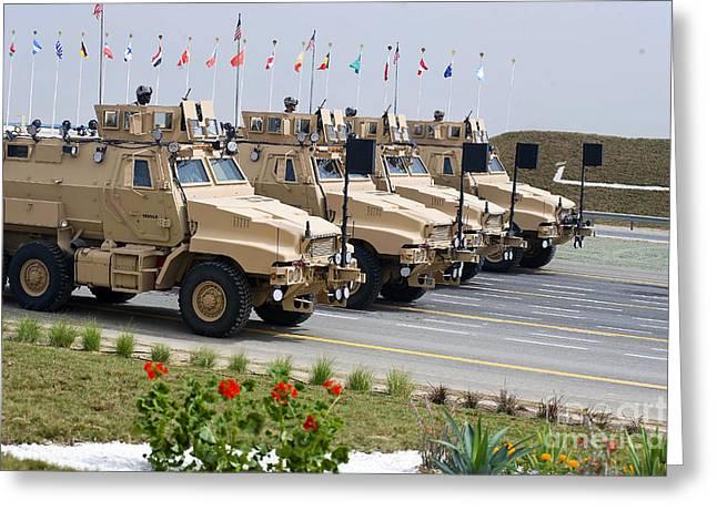 U.s. Army Caiman Vehicles Take Part Greeting Card